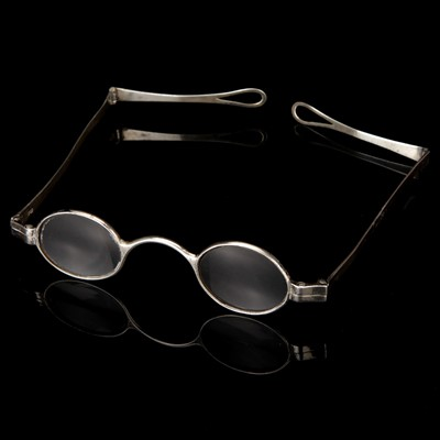 Lot 15-A Pair of Georgian Silver Reading Spectacles