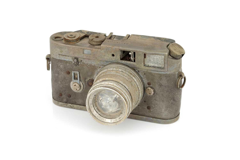 Lot 36 - A Fire Damaged Leica M4 Rangefinder Camera