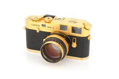 Lot 40 - A Leica M4-2 Gold Rangefinder Camera