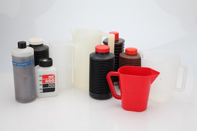 Lot 12 - A Selection of Plastic Darkroom Vessels and Jugs