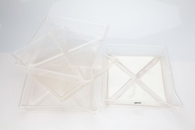 "Lot 24 - 4 Clear Developing Trays - 10"" x 12"""