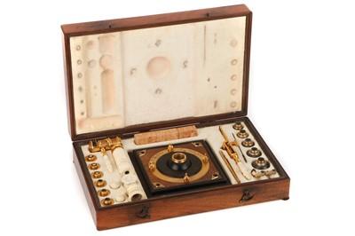 Lot 1 - A Fine G. F. Brander Gilt Brass & Ivory Microscope Compendium