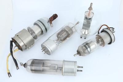 Lot 444 - Five Large Valves / Electron Tubes