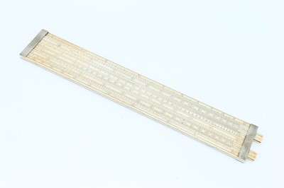 Lot 393 - A Large Ivory Slide Rule by Loftus