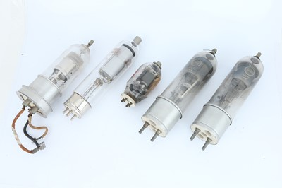 Lot 446 - Collection of Five Large Valves / Electron Tubes