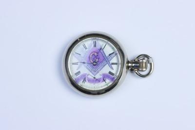 Lot 531 - A Pocket Watch with Masonic Decoration