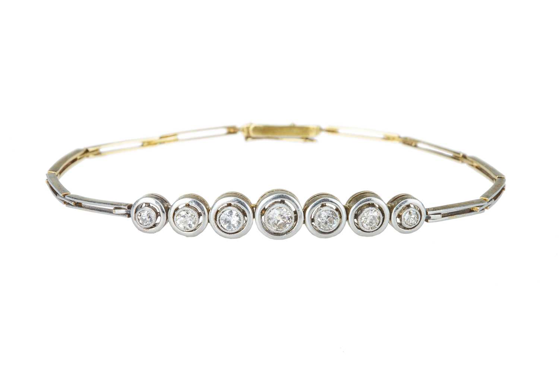 Lot 53 - An early 20th century diamond bracelet.