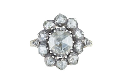 Lot 14 - A Victorian rose cut diamond ring.