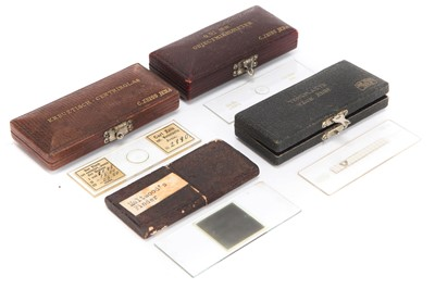 Lot 12-Four Cased Microscope Slides