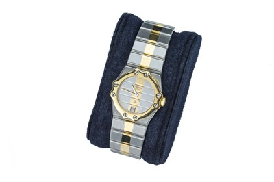 Lot 67 - CHOPARD. 'St Moritz'. A lady's yellow gold and steel wristwatch.