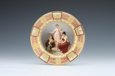 Lot 425 - A Vienna Style Porcelain Cabinet Plate