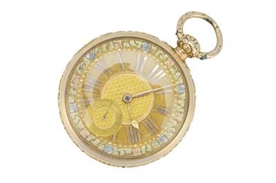 Lot 58 - A George IV Irish 18ct gold pocket watch.