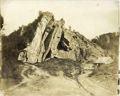 Lot 81 - HUGH OWEN (1808-1897) Craig y Dinas Rock Outcrop
