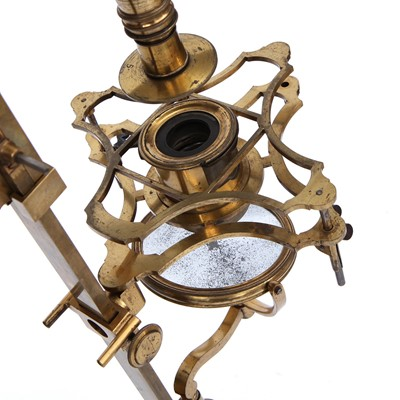 """Lot 2 - An Exceptionally Fine Adams' """"Variable"""" Microscope"""