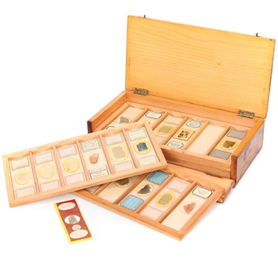 Lot 21-A Microscope Mineral Slide Collection