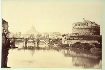 Lot 77 - GIOACCHINO ALTOBELLI (1814-1879)(att), Rome, St Angelo and Ponte Rotto