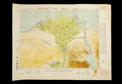 Lot 56 - A Collection of 6 WWII maps North Africa & Egypt