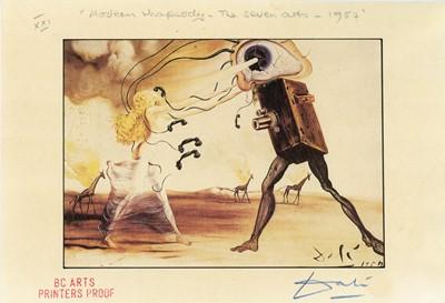 Lot 45 - Salvador Dali (1904-1989), Modern Rhapsody - The Seven Arts