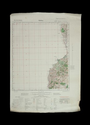 Lot 65 - Two Anglo-French WWII Military Maps of Libya