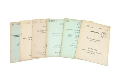 Lot 39 - A Collection of 6 WWII Restricted British Intelligence Reports