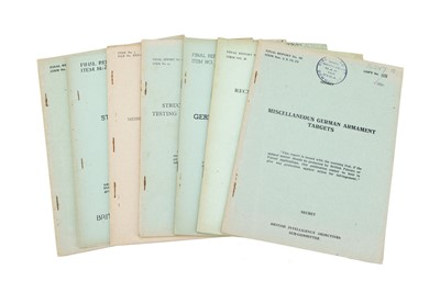 Lot 40 - A Collection of 7 WWII Restricted British Intelligence Reports
