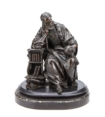 Lot 71 - A Highly Detailed Victorian Bronze Figure of Mercator