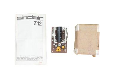 Lot 58 - A Sinclair z12 Transistor Power Amplifier