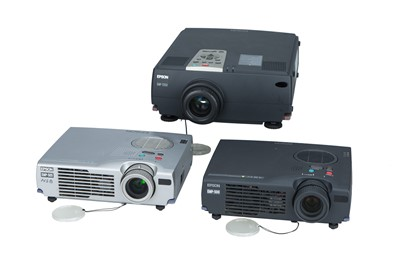 Lot 80 - Collection of Three Epson LCD Projectors