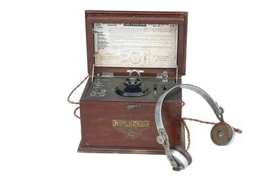 Lot 63 - GECoPHONE, BBC Crystal Radio Set & Phones