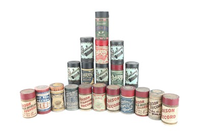Lot 89 - Collection of Twenty  Edison Record Phonograph Wax Cylinders