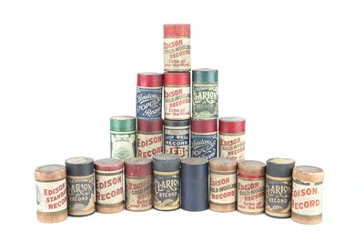 Lot 90 - Collection of Twenty  Edison Record Phonograph Wax Cylinders