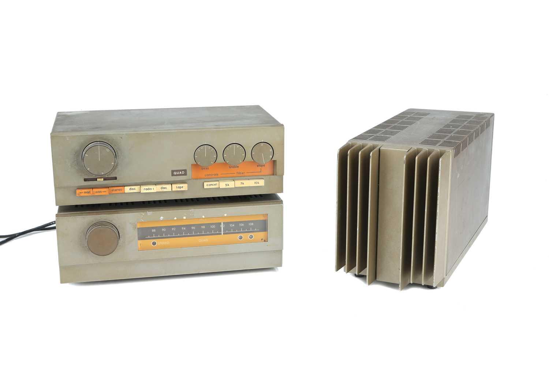 Lot 24 - QUAD 303 Amp, 33 Pre-Amp & 11 FM Tuner