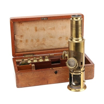 Lot 33-A Martin Type Drum Microscope