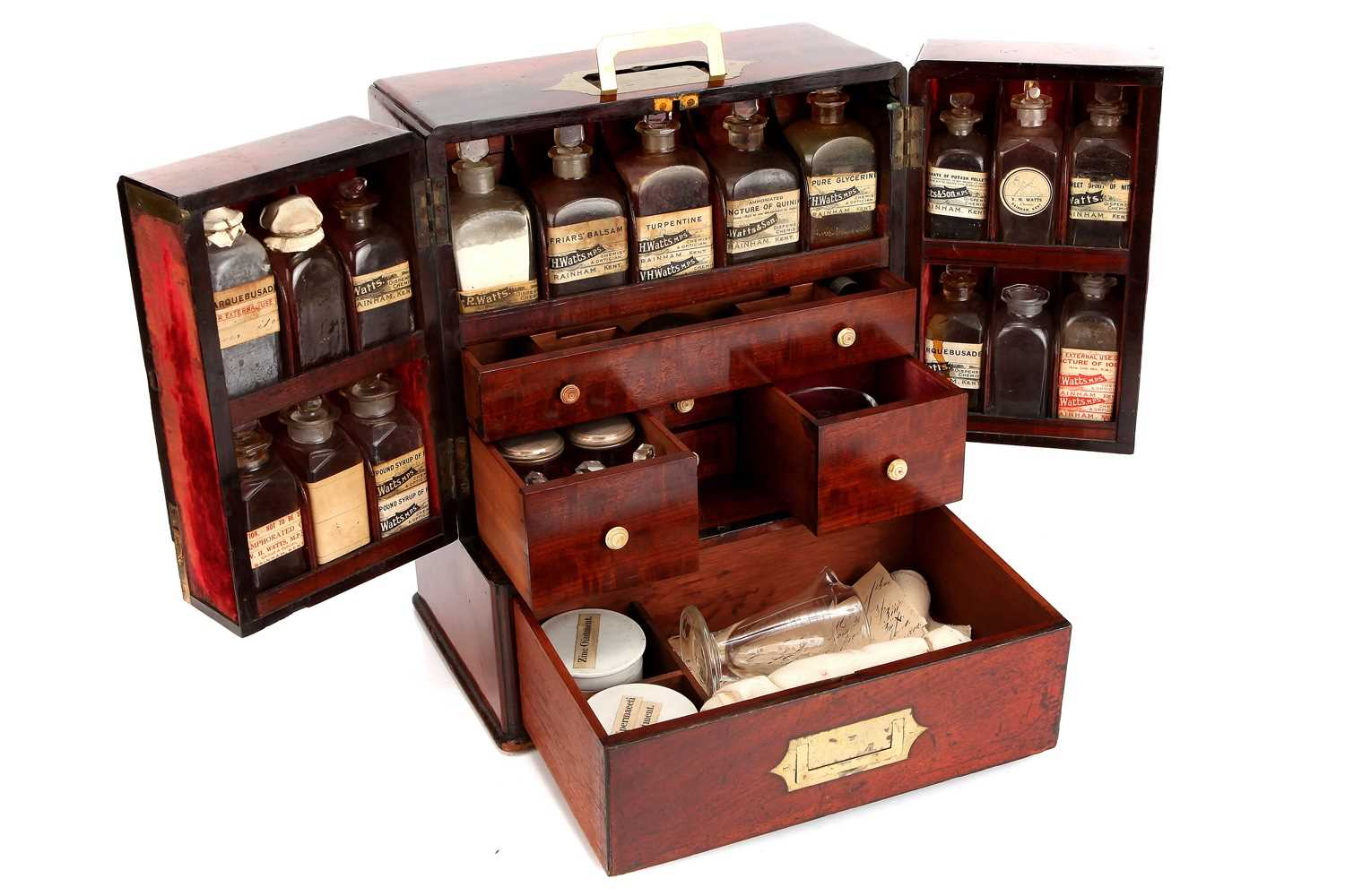 Lot 36 - An Exceptionally Large & Well Appointed Domestic Medicine Chest