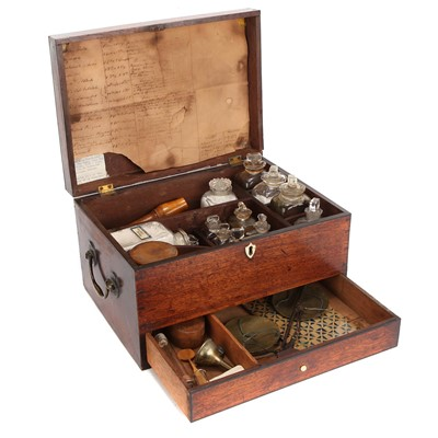 Lot 37-An Early 19th Century Rosewood Domestic Medicine Chest